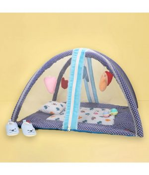 Mylo - Baby-Bedding-set-with-Mosquito-Net-&-Play-Gym-Hanging-Toy-(0-12-months)