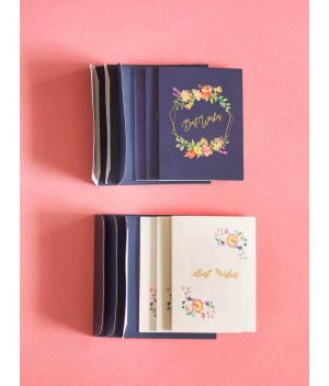 Best Wishes Greeting Cards- Set Of 6