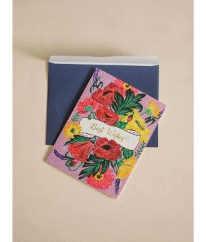 Floral Wishes Greeting Card
