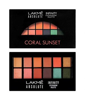 Lakme Absolute Infinity Eye Shadow Palette - Coral Sunset