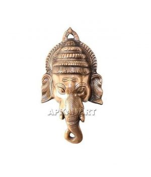 Lord Ganesh Face Wall Hanging 13 Inch