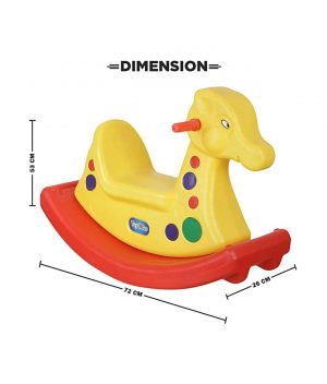NHR Plastic Horse Ride On - Yellow Red