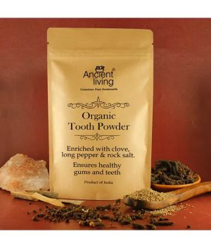 Ancient Living Organic Tooth Powder Pouch - 100 gm