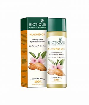 Biotique Advanced Ayurveda Bio Almond Soothing Face And Eye Makeup Cleanser