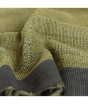 Gandhigram-Khadi-Stole-in-Natural-Pomegranate-Yellow-Natural-Dyes-(10m)