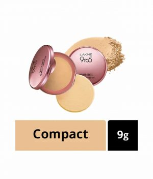 Lakme 9 to 5 Primer With Matte Powder Foundation Compact - Ivory Cream