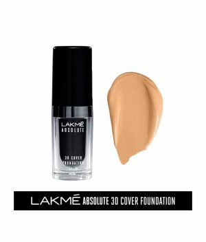Lakme Absolute 3D Cover Foundation - Warm Natural (15 Ml)