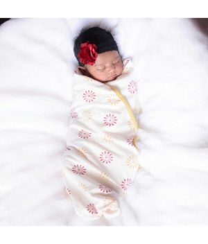 Natural Dyed Swaddle with Cap, 1no